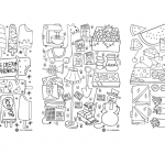 Printable colouring sheets for cbc.ca/parents; Summer 2016.